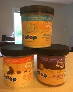 """My addiction to @sharktankabc brings me another amazing product - @dollopgourmet!! 100% vegan non-gmo gluten free soy free no high fructose corn syrup or artificial ingredients frosting with half the sugar of the """"other"""" brands. Seriously?! And with flavors like Sea Salt Caramel Madagascar Vanilla and Hot Chocolate spread I couldn't say no. Check out their Shark Tank special! #vegan #whatveganseat #indy #indyvegan #sharktank #dollopgourmet #youcantmakethisstuffup #heathersaffer #cupcakewars…"""