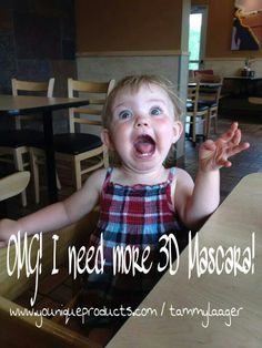 OMG!!! I am out of 3D Mascara!!! Order yours at www.youniqueproducts.com/tammylaager