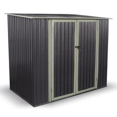 Combo-Metal-Garden-Shed-Pent-Roof-Outdoor-Storage-Shed-including-Foundation-Kit