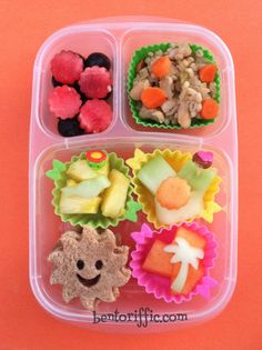 bentoriffic's Sunshiny lunch plant based bento in @EasyLunchboxes