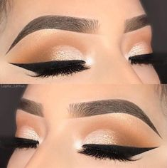 Sharp brows.