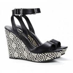 Adrienne platform wedge in black by sole society  $54.95