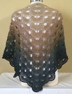 Virus shawl with wolltraum yarn