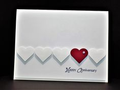 Anniversary Love by Shoe Girl – Cards and Paper Crafts at Splitcoaststampers – Valentines Day İdeas 2020 Homemade Anniversary Cards, Anniversary Card For Parents, Wedding Anniversary Cards, Cricut Anniversary Card, Aniversary Cards, Anniversary Funny, Wedding Cards Handmade, Handmade Birthday Cards, Handmade Valentines Cards