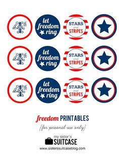 4th of July Printable Circles
