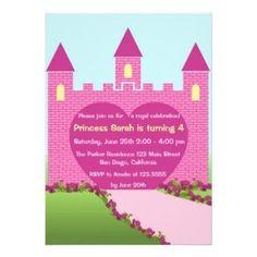 Pink Castle Princess Invitation #pink #castle