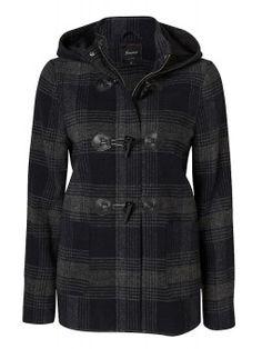 Andie Checked Duffle Coat - Jackets & Vests - Women