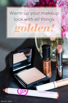 The weather outside is frightful, but this rosy gold makeup look is oh-so delightful! Warm up a frigid winter day with a look inspired by golden summer days! | Mary Kay