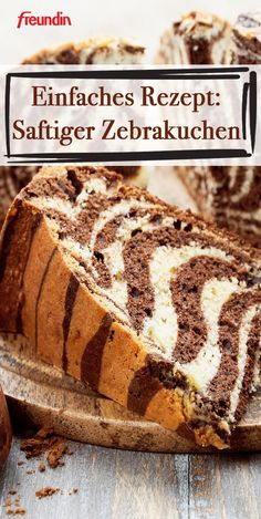 The zebra cake looks more difficult than it actually is. The recipe is a simple marble cake with a modified preparation. This is how it gets its refined zebra look pies pies recipes dekorieren rezepte Banana Bread Recipes, Cake Recipes, Dessert Recipes, Soup Recipes, Holiday Desserts, Easy Desserts, Baking Desserts, Zebra Cakes, Marble Cake