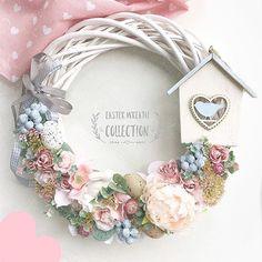 Summer Door Wreaths, Easter Wreaths, Christmas Wreaths, Decor Crafts, Diy And Crafts, Wedding Reception Flowers, Dried Flowers, Floral Arrangements, Floral Wreath