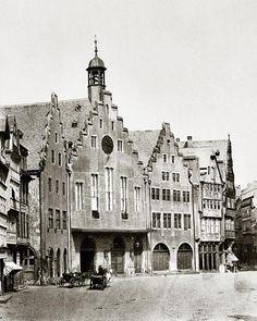 Frankfurt - So sah er damals aus, der Römer Frankfurt, Old City, Germany Travel, Notre Dame, Maine, Building, Postcards, Cities, History