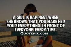 A Girl Is Happiest When..