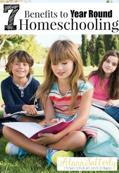 7 Benefits to Year Round Homeschooling. Learning how year round homeschooling can be done and be a good fit to your homeschool schedule.