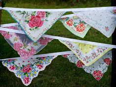 esther2u2 on Etsy.com. I love bunting...and this is a gorgeous idea for vintage hankies!