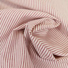 Tissu coton rayures rouge blanc - France Duval Stalla x 10 cm Couture, Red Stripes, Cotton Canvas, White Cotton, Color Red, Fabrics, Haute Couture