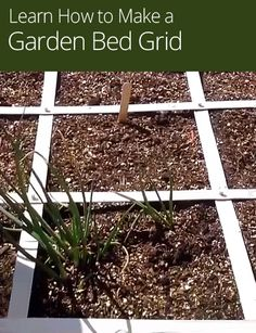 Preparing for spring planting is essential if you want to have a productive vegetable garden! In this gardening lesson, discover materials to use for dividing a square foot container garden.