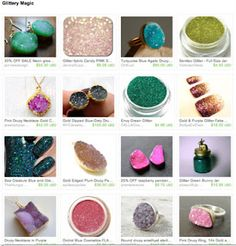 New blog post! Glitter and druzy and treasuries galore!!