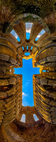The Cross - San Galano Abbey, Tuscany, Italy - Italia The Places Youll Go, Places To See, Kingdom Of Heaven, Place Of Worship, Amazing Architecture, Architecture Design, Italy Travel, Italy Vacation, Italy Trip
