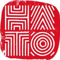 logo design restaurant branding stamp. Hato Fine Asian Cuisine by Nathan Dallimore.