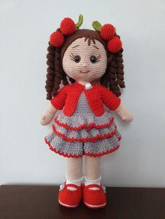 Crochet Dolls Free Patterns, Crochet Doll Pattern, Amigurumi Patterns, Doll Patterns, Crochet Bear, Cute Crochet, Baby Blanket Crochet, Crochet Doll Clothes, Knitted Dolls