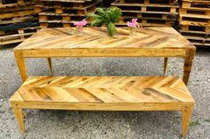 Pallets wood is found to be very good in making beautiful pieces of furniture and other wooden accessories. You can apply creative design ideas to pallets wood to construct tables, benches, desks, racks etc. Pallets wood give a rustic look to home environment.