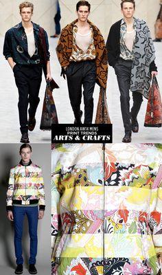 Runway   AW14 Mens London Print Trends   Arts & Crafts