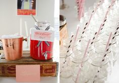 Backyard summer party  - not so much food, def. have to have unalcoholic drinks too, but I love the mason jars and wooden details :)