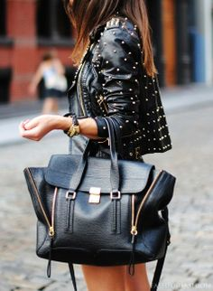 Studded Black Leather Jacket