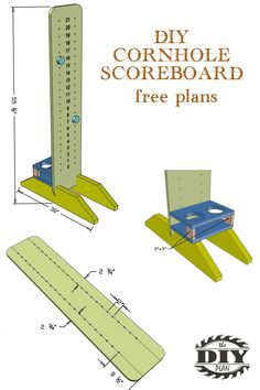 Visit our website for free tutorial and printable PDF of how to build a cornhole scoreboard. Build it with construction lumber using basic tools.