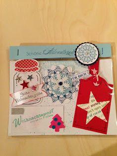 """Heikes Kreativseite: Card Candys zum Thema """" Weihnachten """" Candy Cards, Advent Calendar, Scrapbook, Holiday Decor, Christmas, Advent Calenders, Scrapbooking, Guest Books, Scrapbooks"""