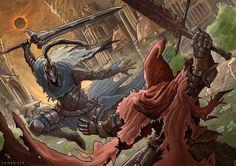 Dark Souls: Red and Blue by SaneKyle.deviantart.com on @DeviantArt