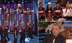 Netflix's Cheer cast from the hit docuseries visits The Ellen Show Cheerleading Photos, Cheerleading Cheers, College Cheerleading, Cheer Stunts, Softball Senior Pictures, Senior Guys, Senior Photos, The Ellen Show, Team Pictures