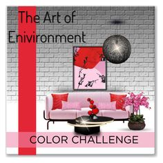 """""""* COLOR CHALLENGE:  Red & Pink *"""" by hrfost1210 ❤ liked on Polyvore featuring interior, interiors, interior design, home, home decor, interior decorating, MOROSO, Jules Julien, Kate Spade and Tondo Doni"""