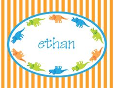 Personalized Note Card Stationery For Boys by ABirdIntheHandCreate, $9.50
