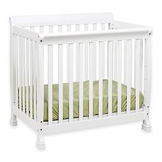 This DaVinci Kalani Mini Crib features contemporary styling with clean lines and is designed to grow with your child. It also converts into a twin bed when your child is ready with separately sold conversion rails (conversion rails not included).