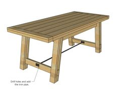 Free woodworking plans to make a Farmhouse Table inspired by Pottery Barn Benchwright Table