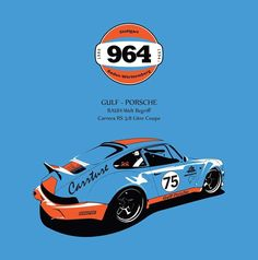 Gulf Racing Porsche 964 - Canvas #Porsche