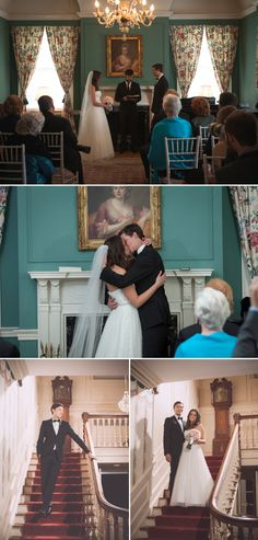 Intimate Kingsport wedding at Allandale Mansion, by John Dunahoo Photography | The Pink Bride www.thepinkbride.com