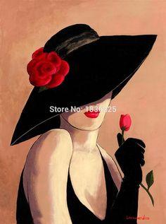 Ucuz El boyalı yağlıboya Seksi Bir Kadın Giyen Güzel Şapka zarif kadın bir parça kırmızı gül çiçek tutun Yağlıboya, Satın Kalite resim ve hat sanatı doğrudan Çin Tedarikçilerden: Sıcak haber:Biz destek özelleştirebilirsiniz resim ve herhangi bir boyut, sormak için bekliyoruz fiyat.  &nb