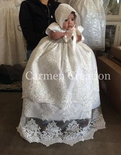 Florence Christening Gown Ivory