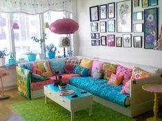I would LOVE to do this with a playroom for the kids, so bright and cheery yet laid back!