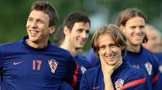 Luka Modric and Mario Mandzukic (Croatia) UEFA Euro 2012