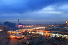 View of the Marrakech Film Festival and the market