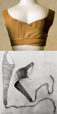 Regency wrap bra from Kyoto Institute. Link includes great tips about how to fit a Regency corset for a larger belly. Historical Costume, Historical Clothing, 1800s Fashion, Vintage Fashion, Medieval Fashion, Regency Dress, Regency Era, Period Outfit, Jane Austen