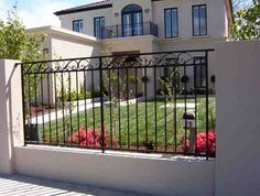 wrought iron fence ideas - Google Search