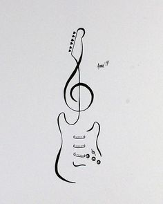 Tattoo Flash Stratocaster Guitar by AprilsInk on DeviantArt Tattoo Flash - Stratocaster Guitar by AprilsInk diy tattoo images - tattoo images drawings - tattoo Music Drawings, Pencil Art Drawings, Art Drawings Sketches, Tattoo Drawings, Body Art Tattoos, Simple Drawings, Quote Tattoos, Sketch Tattoo, Wolf Tattoos