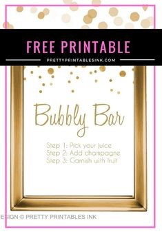 FREE bubbly bar sign from Pretty Printables Ink! {prettyprintablesink.com}