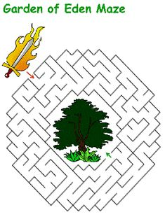 Bible themed maze puzzles