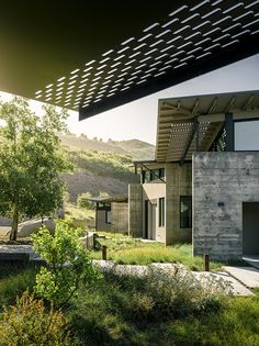 Butterfly House is a modern family residence designed by Feldman Architecture, which is comprised of three small pavilions located in Carmel, California