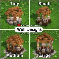 Minecraft Building Guide, Minecraft Farm, Cute Minecraft Houses, Minecraft Construction, Amazing Minecraft, Minecraft Blueprints, Minecraft Crafts, Minecraft Designs, Minecraft Cottage